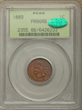 Proof Indian Cents, 1889 1C PR66 Red and Brown PCGS. CAC. Housed in an old green label holder. PCGS Population: (8/0). NGC Census: (13/0). PR66...