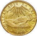 Chile, Chile: Republic gold 8 Escudos 1835 So-IJ AU58+ PCGS,...