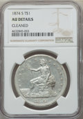 Trade Dollars, 1874-S T$1 -- Cleaned -- NGC Details. AU. NGC Census: (10/315). PCGS Population: (34/414). AU50. Mintage 2,549,000....