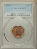Indian Cents: , 1906 1C MS64 Red and Brown PCGS. PCGS Population: (859/171). NGC Census: (473/207). MS64. Mintage 96,022,256. ...