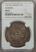 German States:Hamburg, German States: Hamburg. Free City 32 Schilling 1731-IHL MS61 NGC,...