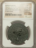 Ancients:Roman Imperial, Ancients: Claudius I (AD 41-54). Orichalcum sestertius (35mm, 26.16gm, 5h). NGC XF 4/5 - 2/5, Fine Style, smoothing....