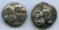 Ancients:Ancient Lots , Ancients: ANCIENT LOTS. Istros. Ca. 400-330 BC. Lot of two (2) ARdrachms.Fine-VF.... (Total: 2 coins)