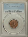 Lincoln Cents: , 1911-S 1C MS63 Red and Brown PCGS. PCGS Population: (117/369). NGC Census: (44/184). CDN: $350 Whsle. Bid for problem-free ...