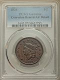 1826 1C -- Corrosion Removed -- PCGS Genuine. AU Details. NGC Census: (8/84). PCGS Population: (13/121). CDN: $400 Whsle...