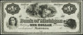 Obsoletes By State:Michigan, Marshall, MI- Bank of Michigan $1 18__ Remainder Choice About Uncirculated.. ...