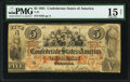 Confederate Notes:1861 Issues, T31 $5 1861 PF-1 Cr. 243 PMG Choice Fine 15 Net.. ...