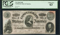 Confederate Notes:1864 Issues, T65 $100 1864 PF-2 Cr. 493 PCGS Choice New 63.. ...