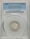 1885 10C -- Cleaning -- PCGS Genuine. Unc Details. NGC Census: (1/316). PCGS Population: (5/326). CDN: $140 Whsle. Bid f...