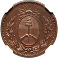 Argentina, Argentina: Buenos Aires. Provincial copper Proof Pattern Decimo1822 PR65 Brown NGC,...