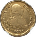 Chile, Chile: Charles IV gold Escudo 1802 So-JJ VF25 NGC,...
