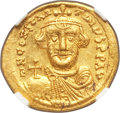 Ancients:Byzantine, Ancients: Constans II Pogonatus (AD 641-668). AV solidus (21mm,4.44 gm, 6h). NGC MS 5/5 - 4/5.. ...