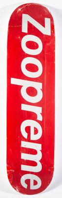 Supreme X Zoo York Zoopreme, 2006 Offset lithograph in colors on skate deck 32 x 8 inches (81.3 x