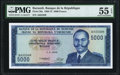 World Currency, Burundi Banque de la Republique 5000 Francs 1.4.1968 Pick 26a PMG About Uncirculated 55 EPQ.. ...