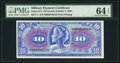 Military Payment Certificates:Series 611, Series 611 $10 PMG Choice Uncirculated 64 EPQ.. ...