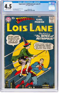 Superman's Girlfriend Lois Lane #1 (DC, 1958) CGC VG+ 4.5 Off-white to white pages