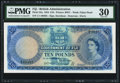 Fiji Government of Fiji 10 Pounds 1.7.1954 Pick 55a PMG Very Fine 30