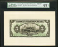 Canadian Currency, Saint John, NB- Eastern Bank of Canada $5 15.5.1929 Ch. #225-10-02FP; 225-10-02BP Face and Back Proofs PMG Superb Gem Unc ... (Total: 3 items)