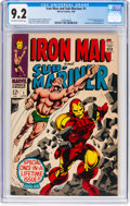 Silver Age (1956-1969):Superhero, Iron Man and Sub-Mariner #1 (Marvel, 1968) CGC NM- 9.2 Off-white to white pages....