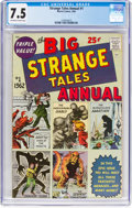 Silver Age (1956-1969):Superhero, Strange Tales Annual #1 (Marvel, 1962) CGC VF- 7.5 Off-white to white pages....