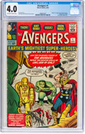 Silver Age (1956-1969):Superhero, The Avengers #1 (Marvel, 1963) CGC VG 4.0 Off-white to whitepages....