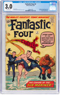 Silver Age (1956-1969):Superhero, Fantastic Four #4 (Marvel, 1962) CGC GD/VG 3.0 Off-white pages....