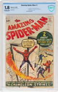 Silver Age (1956-1969):Superhero, The Amazing Spider-Man #1 (Marvel, 1963) CBCS GD- 1.8 Off-white towhite pages....