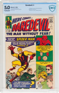 Silver Age (1956-1969):Superhero, Daredevil #1 (Marvel, 1964) CBCS VG/FN 5.0 Off-white to white pages....