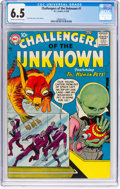Silver Age (1956-1969):Science Fiction, Challengers of the Unknown #1 (DC, 1958) CGC FN+ 6.5 Cream to off-white pages....