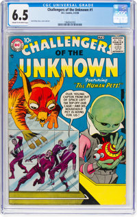 Challengers of the Unknown #1 (DC, 1958) CGC FN+ 6.5 Cream to off-white pages