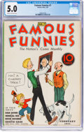 Platinum Age (1897-1937):Miscellaneous, Famous Funnies #7 (Eastern Color, 1935) CGC VG/FN 5.0 Cream tooff-white pages....