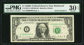 Small Size:Federal Reserve Notes, Fr. 1907-E $1 1969D Federal Reserve Note. PMG Very Fine 30 EPQ.. ...