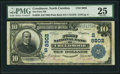 National Bank Notes:North Carolina, Creedmoor, NC - $10 1902 Plain Back Fr. 626 The First NB Ch. # (S)8902 PMG Very Fine 25.. ...