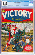 Golden Age (1938-1955):Superhero, Victory Comics #1 (Hillman Publications, 1941) CGC FN+ 6.5 Off-white pages....