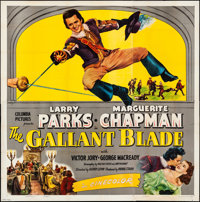 """The Gallant Blade (Columbia, 1948). Folded, Fine/Very Fine. Six Sheet (79.5"""" X 80""""). Swashbuckler"""