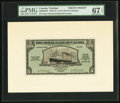Canadian Currency, Port of Spain, Trinidad- Royal Bank of Canada $5 (£1-0-10) 3.1.1938 Ch. # 630-68-02BP Front and Back Proofs PMG Superb Gem... (Total: 2 notes)