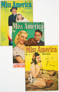 Golden Age (1938-1955):Romance, Miss America Magazine Group of 3 (Miss AmericaPublishing/Marvel/Atlas, 1940s).... (Total: 3 Comic Books)