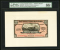 Canadian Currency, Georgetown, British Guiana- Royal Bank of Canada $20 (£4-3-4) 3.1.1938 Ch. # 630-38-04FP; BP Front and Back Proofs PMG Gem... (Total: 2 notes)