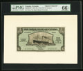 Canadian Currency, St. George's, Grenada- Royal Bank of Canada $5 (£1-0-10) 3.1.1938Ch. # 630-50-02FP; BP Front and Back Proofs PMG Gem Unci... (Total:2 notes)