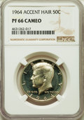 Proof Kennedy Half Dollars: , 1964 50C Accented Hair PR66 Cameo NGC. NGC Census: (357/788). PCGS Population: (319/475). ...