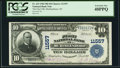 Murfreesboro, NC - $10 1902 Plain Back Fr. 633 The First NB Ch. # 11557 PCGS Extremely Fine 40PPQ.<
