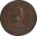Large Cents, 1792 P1C Silver Center Cent, Judd-1, Pollock-1, Low R.7, SP58+Brown PCGS Secure. CAC. ...