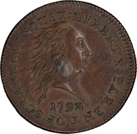 1792 P1C Silver Center Cent, Judd-1, Pollock-1, Low R.7, SP58+ Brown PCGS Secure. CAC. ...(PCGS# 11001)