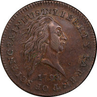 1792 P1C Small Pattern Cent, Judd-2, Pollock-2, Low R.7, SP53 PCGS Secure. CAC. ...(PCGS# 11004)