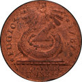 1787 FUGIO Fugio Cent, STATES UNITED, 4 Cinquefoils, Pointed Rays MS65 Red and Brown PCGS Secure. Newman 13-X, W-6855, R...