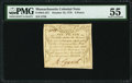 Colonial Notes:Massachusetts, Massachusetts October 16, 1778 6d PMG About Uncirculated 55.. ...