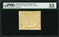 Colonial Notes:Massachusetts, Massachusetts October 16, 1778 8d PMG About Uncirculated 53.. ...