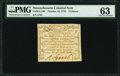 Colonial Notes:Massachusetts, Massachusetts October 16, 1778 12d PMG Choice Uncirculated 63.. ...