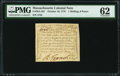 Colonial Notes:Massachusetts, Massachusetts October 16, 1778 1s 6d PMG Uncirculated 62.. ...