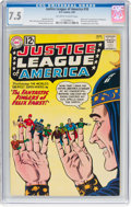 Silver Age (1956-1969):Superhero, Justice League of America #10 (DC, 1962) CGC VF- 7.5 Off-white towhite pages....